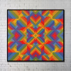 Contemporary Wall Art Colorful Abstract Wall Print without Frame 40'*40' A