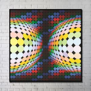Contemporary Wall Art Colorful Abstract Wall Print without Frame 40'*40' B