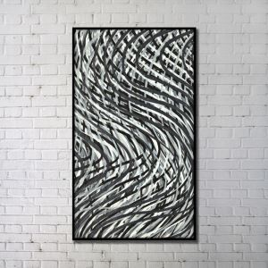 Contemporary Wall Art Lines Abstract Wall Print without Frame 28'*48' B