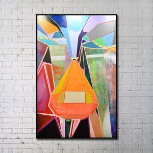 Contemporary Wall Art Colorful Geometric Abstract Print without Frame 28'*48' F