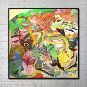 Contemporary Wall Art Wind Abstract Wall Print without Frame 30'*30' D