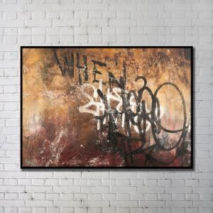 Contemporary Wall Art Letters Graffiti Abstract Wall Print without Frame 48'*28'