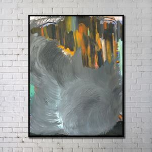 Contemporary Wall Art Dark Color Abstract Wall Print without Frame 36'*48'