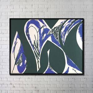 Contemporary Wall Art Abstract Wall Print without Frame 48'*36' Blue