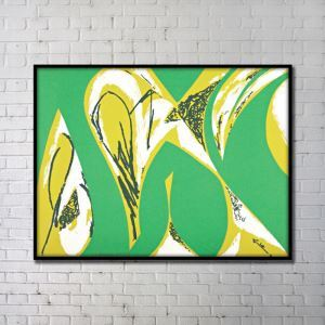 Contemporary Wall Art Abstract Wall Print without Frame 48'*36' Green