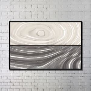 Contemporary Wall Art Whirlpool Abstract Wall Print with Black Frame 48'*32'