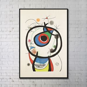 Contemporary Wall Art Animal Abstract Wall Print with Black Frame 24'*36' B
