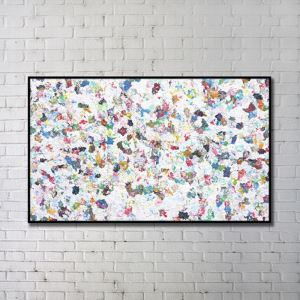 Contemporary Wall Art Floral Abstract Wall Print without Frame 48'*28' A