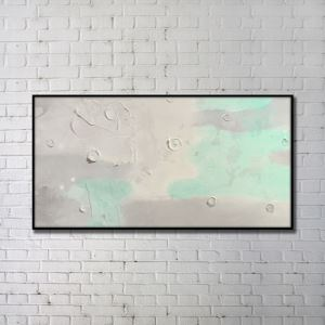 Contemporary Wall Art Simple Abstract Wall Print with Black Frame 48'*28' B