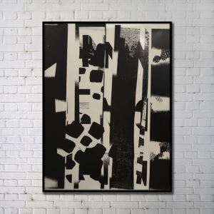 Contemporary Wall Art Black Abstract Wall Print without Frame 36'*48' A