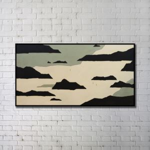 Contemporary Wall Art Clouds Abstract Print without Frame 48'*28' A