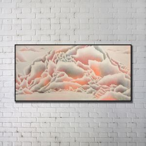 Contemporary Wall Art Clouds Abstract Print without Frame 48'*28' B