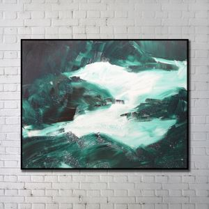 Contemporary Wall Art Waterfall Abstract Wall Print without Frame 48'*40' B