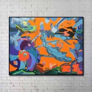 Modern Wall Art Abstract Wall Print without Frame 48'*36' B