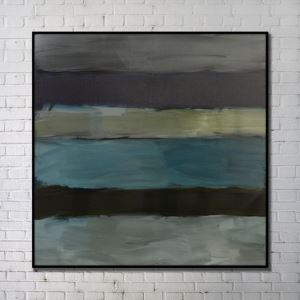 Contemporary Wall Art Abstract Wall Print with Black Frame 40'*40' B