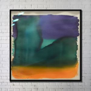 Contemporary Wall Art Colorful Abstract Wall Print with Black Frame 40'*40' E