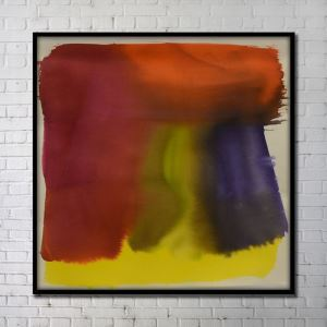 Contemporary Wall Art Colorful Abstract Wall Print with Black Frame 40'*40' I