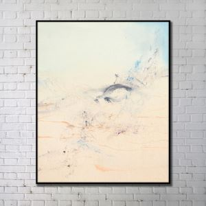 Contemporary Wall Art Scenery Abstract Wall Print with Black Frame 36'*48' B