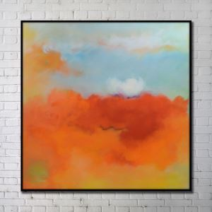 Contemporary Wall Art Warm-toned Abstract Wall Print without Frame 40'*40' A