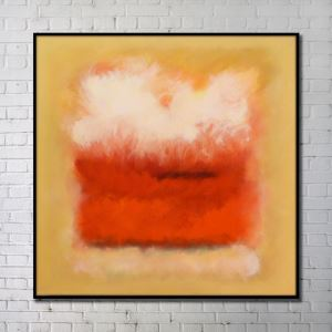 Contemporary Wall Art Warm-toned Abstract Wall Print without Frame 40'*40' B