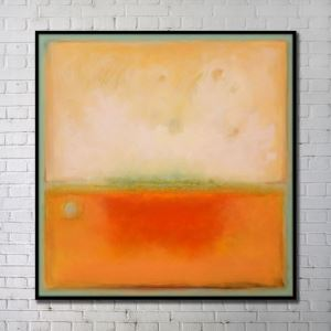 Contemporary Wall Art Warm-toned Abstract Wall Print without Frame 40'*40' D