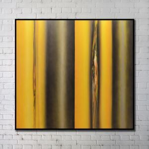 'Contemporary Wall Art Warm-toned Abstract Wall Print with Black Frame 40'*40' G