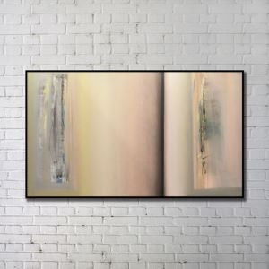 'Contemporary Wall Art Warm-toned Abstract Wall Print without Frame 48'*28' H