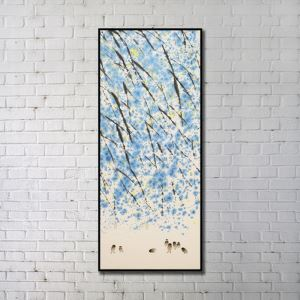 Contemporary Wall Art Ink Paiting Abstract Wall Print without Frame 20'*48' H