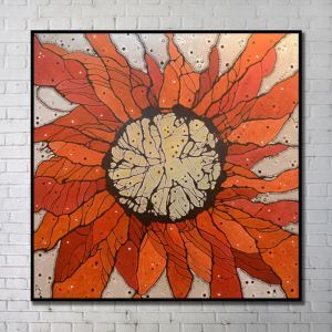'Contemporary Wall Art Abstract Wall Print without Frame 40'*40' Orange