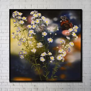Contemporary Wall Art Flowers Abstract Wall Print without Frame 40'*40' B