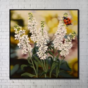 Contemporary Wall Art Flowers Abstract Wall Print without Frame 40'*40' D