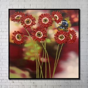 Contemporary Wall Art Flowers Abstract Wall Print without Frame 40'*40' E