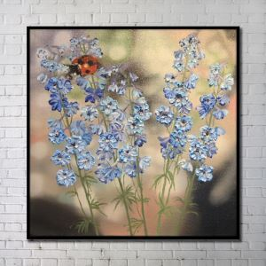 Contemporary Wall Art Flowers Abstract Wall Print without Frame 40'*40' F
