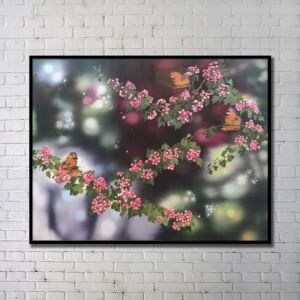 Contemporary Wall Art Flowers Abstract Wall Print without Frame 48'*36' J