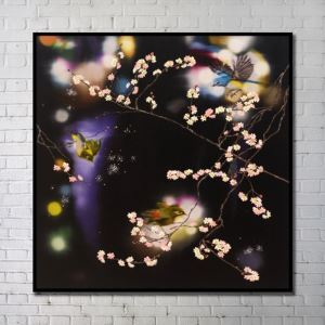 Contemporary Wall Art Flowers Abstract Wall Print without Frame 40'*40' K