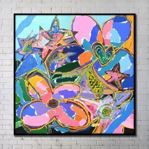 Contemporary Wall Art Bright Abstract Wall Print without Frame 40'*40' A