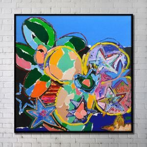 Contemporary Wall Art Bright Abstract Wall Print without Frame 40'*40' B