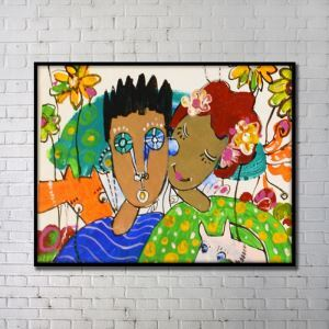 Contemporary Art Portrait Wall Painting without Frame 48'*36' C