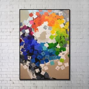 Contemporary Wall Art Bright Abstract Wall Print without Frame 36'*48' G