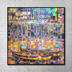 Contemporary Wall Art Bright Abstract Wall Print without Frame 40'*40' I