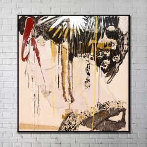 Contemporary Art Portrait Abstract Wall Painting without Frame 40'*40' H