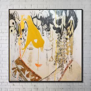 Contemporary Art Portrait Abstract Wall Painting without Frame 40'*40' I