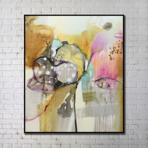 Contemporary Wall Art Abstract Wall Print with Black Frame 36'*40' A