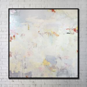 Modern Wall Art Abstract Wall Print with Black Frame 40'*40' D