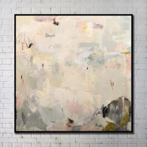 Modern Wall Art Abstract Wall Print with Black Frame 40'*40' E