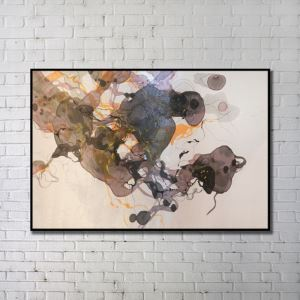Contemporary Art Gallery Abstract Wall Print with Black Frame 48'*32'