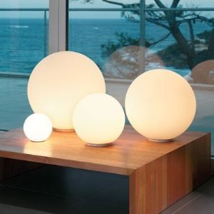 Bold and Lovely Designer Globe Table Lamps with Cream Glass