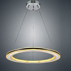 20' Black Pratical Simple LED Round Pendant in One Tier