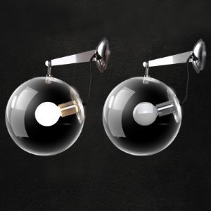 Chrome Finished Modern Designer Beautiful Bubble Wall Light