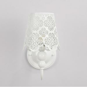 "10.6""High Floral Carved Stainless Steel Designer Wall Light"